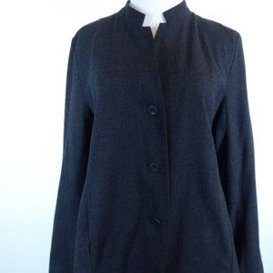 Eileen Fisher jacket mandarin collar M